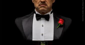 Marlon Brando como Dom Vito Corleone em O Poderoso Chefão – Busto Perfeito DamToys em Tamanho Real (1:1)