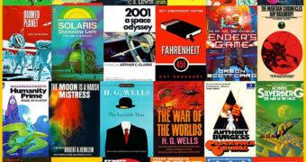Quebra-Cabeça Livros Clássicos de Ficção Científica com 1.000 Peças