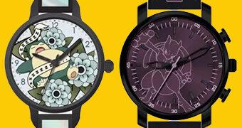 Relógios de Pulso Accutime Pokemon: Snorlax e Mewtwo