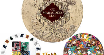 Sets de Pratos Harry Potter: Mapa do Maroto, Chibi e Brasões de Hogwarts