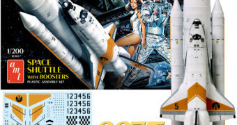 Kit Plástico James Bond 007 Moonraker Space Shuttle em Escala 1:200