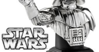 Busto Darth Vader de Peltre Polido (Star Wars)