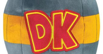 Donkey Kong Barril DK de Pelúcia Mega Mocchi Mocchi