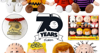 Bonecos de Pelúcia Peanuts Beanies Edição 70 Anos de Aniversário das Tiras de Charles M. Schulz