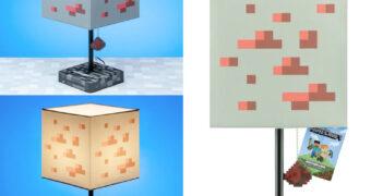 Abajur Minecraft Minério de Redstone