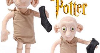 Boneco de Pelúcia do Elfo-Doméstico Dobby que Fala 16 Frases (Harry Potter)