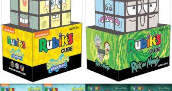 Cubos de Rubik Bob Esponja Calça Quadrada e Rick and Morty