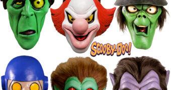 Máscaras Monstros e Criaturas de Scooby-Doo e a Gangue Mistério