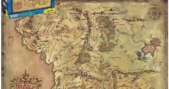 Quebra-Cabeça Mapa da Terra Média O Senhor dos Anéis com 3.000 Peças