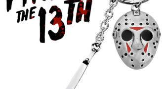 Chaveiro Sexta-Feira 13 Jason Voorhees com Máscara de Hockey e Machete