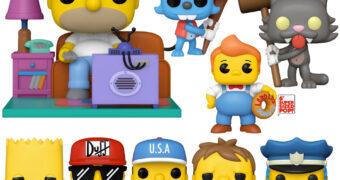 Bonecos Pop! Os Simpsons com Itchy & Scratchy, Homer Assistindo TV e Outros