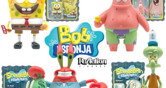 Bob Esponja Calça Quadrada ReAction – Action Figures Retro 3.75""