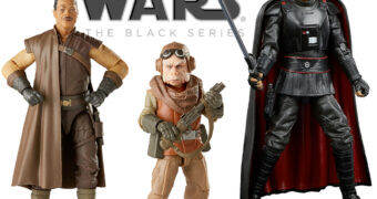 Action Figures Star Wars The Mandalorian Black Series: Moff Gideon, Greef Karga e Kuiil