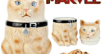Pote de Cookies Goose The Cat, o Gato da Capitã Marvel