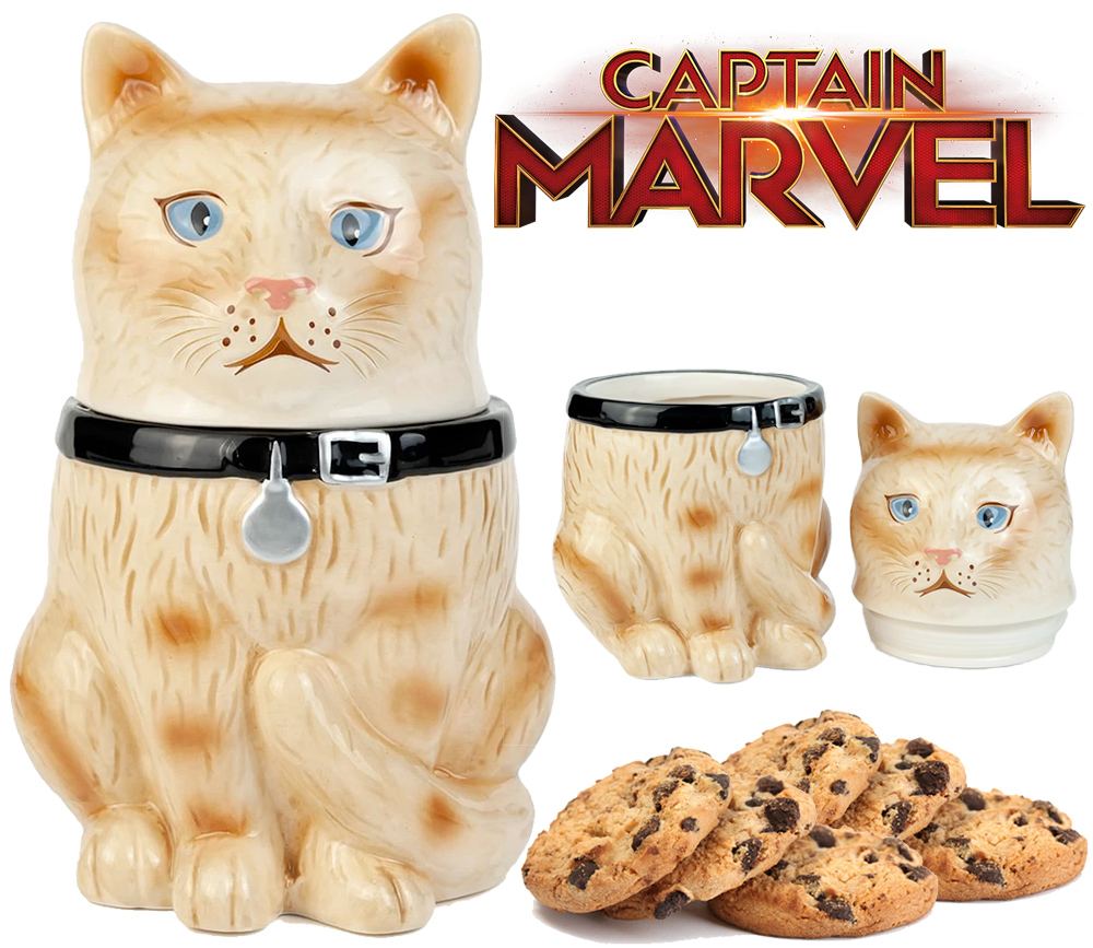 Pote de Cookies Goose The Cat Gato da Capita Marvel