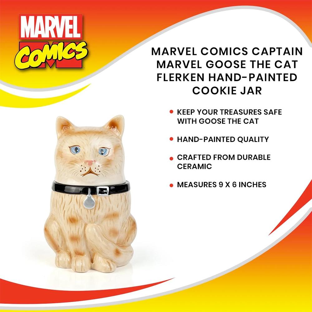 Pote de Cookies Goose The Cat Gato da Capita Marvel
