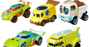 Carrinhos Hot Wheels Nickelodeon com Rugrats, Bob Esponja e Tartarugas Ninjas