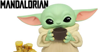 Cofre Baby Yoda Esperando o Jantar (Star Wars: The Mandalorian)
