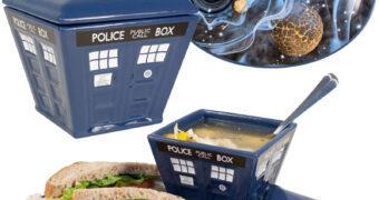 Prato de Sanduíche e Tigela de Sopa TARDIS Doctor Who