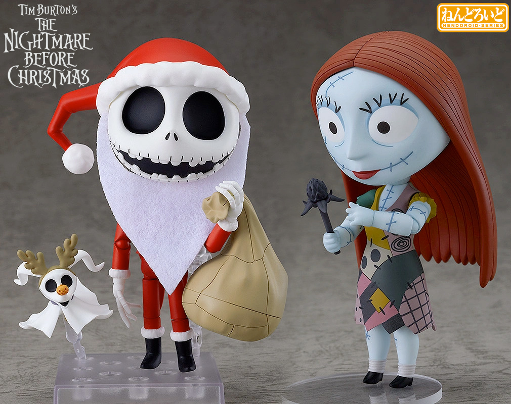 Bonecos Nendoroid Nightmare Before Christmas Jack e Sally