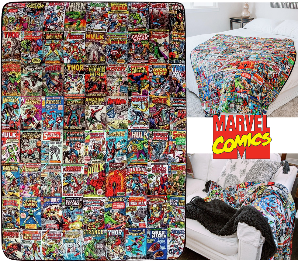 Cobertor de Lance Marvel Comics Oversized Fleece Sherpa Throw Blanket