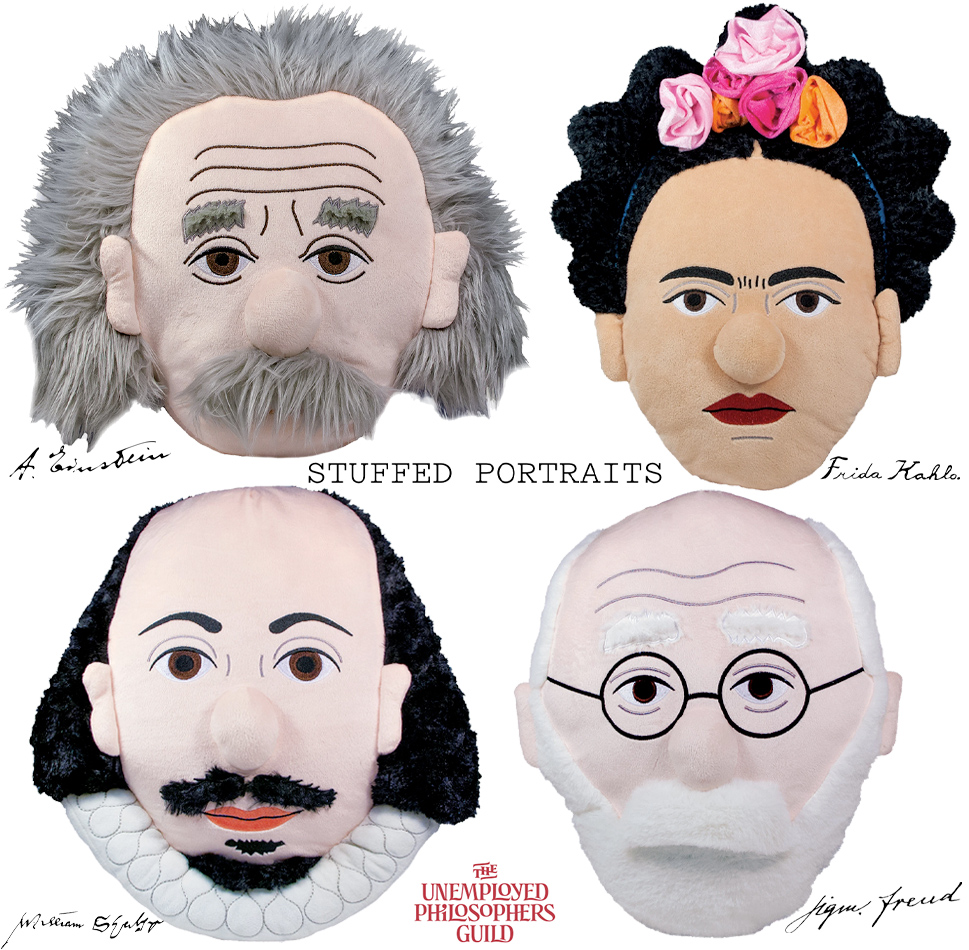 Almofadas Stuffed Portraits Shakespeare Freud Kahlo Einstein