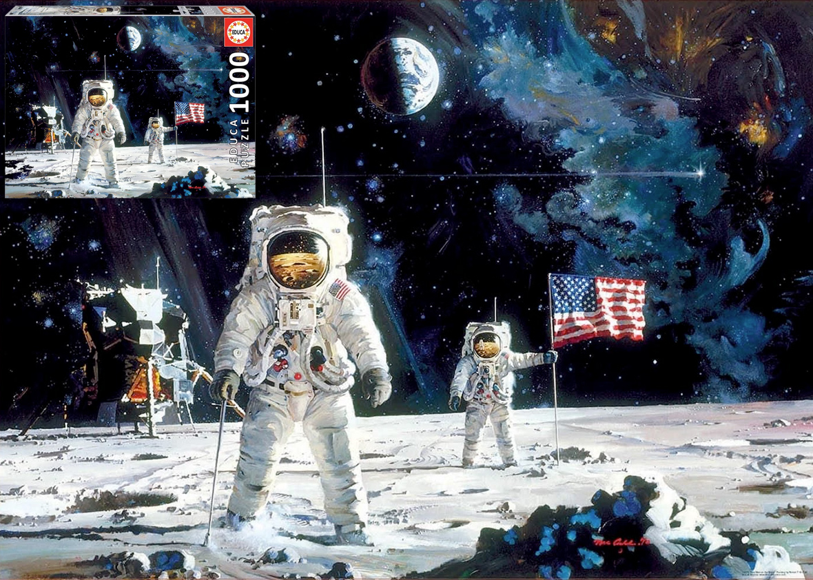 Quebra-Cabeca First Men On The Moon 1000 Piece Jigsaw Puzzle