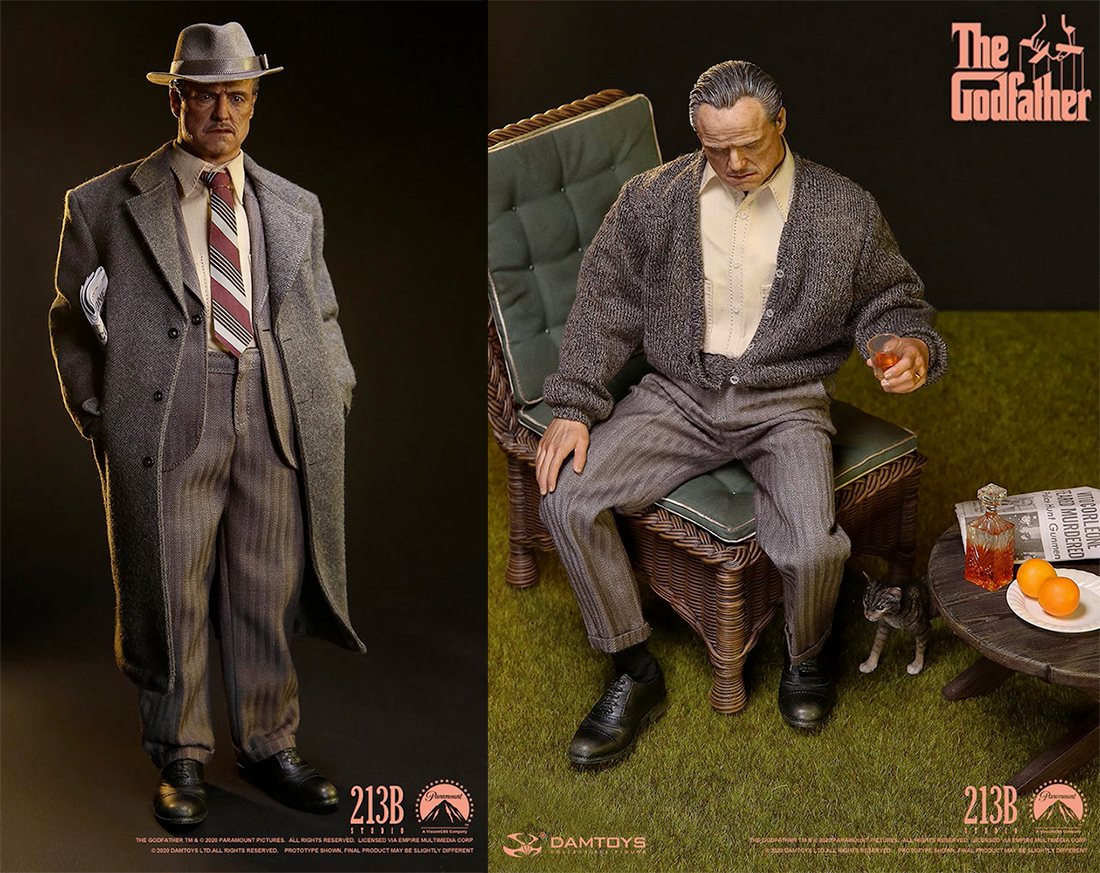 Action Figure Vito Corleone Golden Years Version The Godfather Damtoys