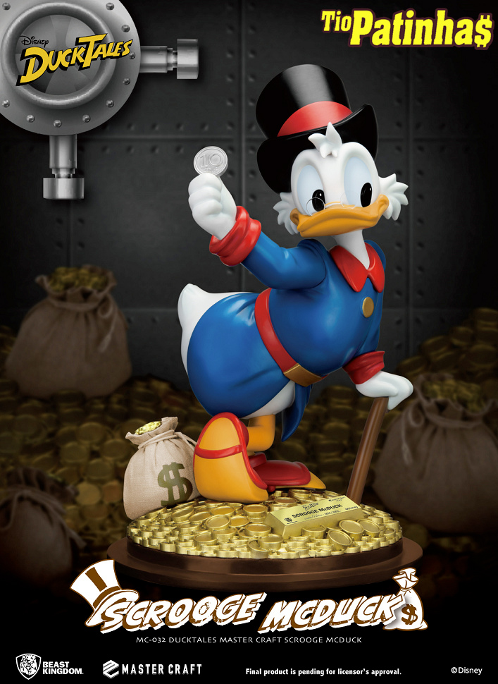 Estatua Tio Patinhas Scrooge McDuck DuckTales Master Craft