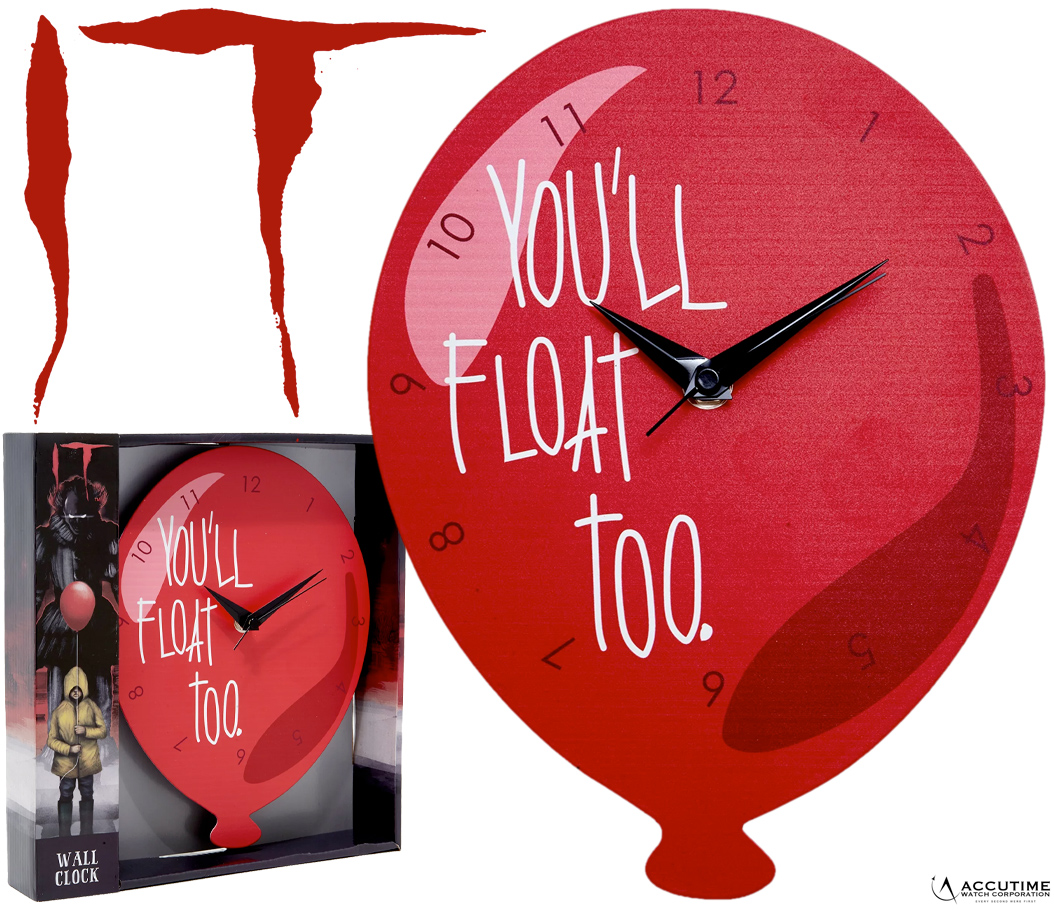 Relogio de Parede Pennywise IT You Will Float Too Ballon Wall Clock