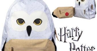 Mochila da Coruja Edwiges com Pochete Carta de Hogwarts (Harry Potter)