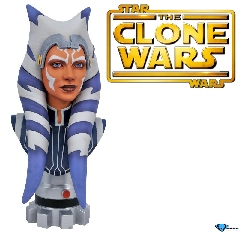 Ahsoka Tano Star Wars Clone Wars Legends in 3D Bust