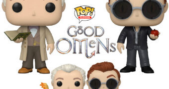 Bonecos Pop! TV Good Omens (Belas Maldições) de Terry Pratchett e Neil Gaiman