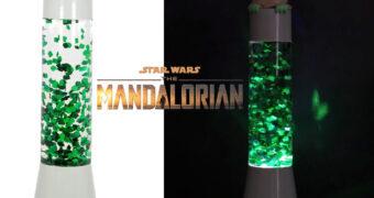 Lâmpada de Glitter Grogu (Baby Yoda) Star Wars: The Mandalorian
