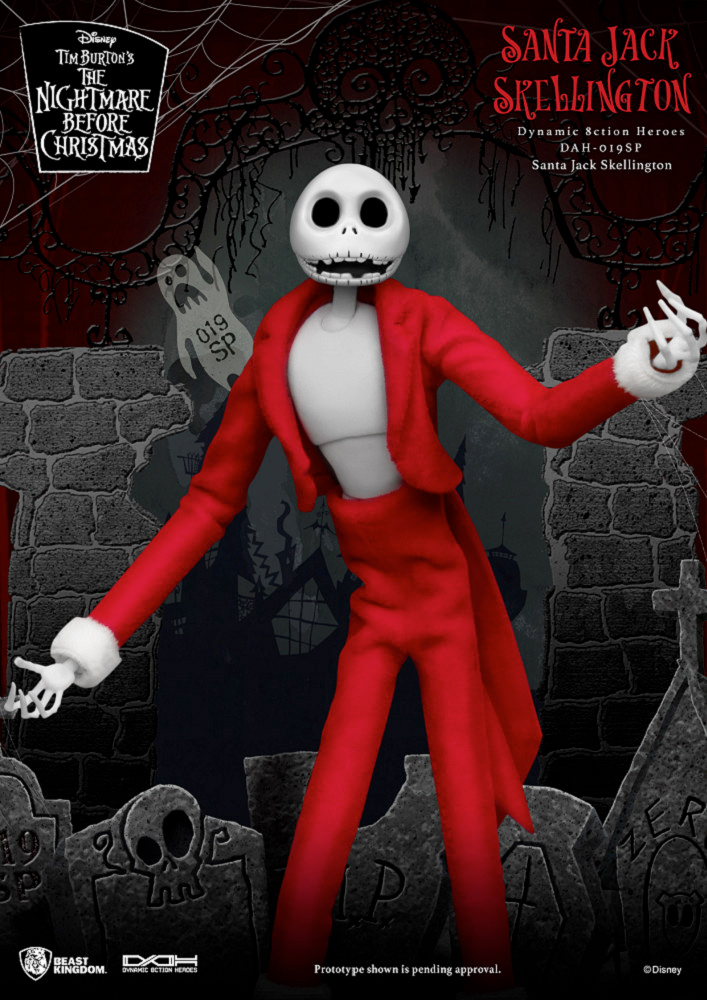 Action Figure Santa Jack The Nightmare Before Christmas Dynamic Action Heroes