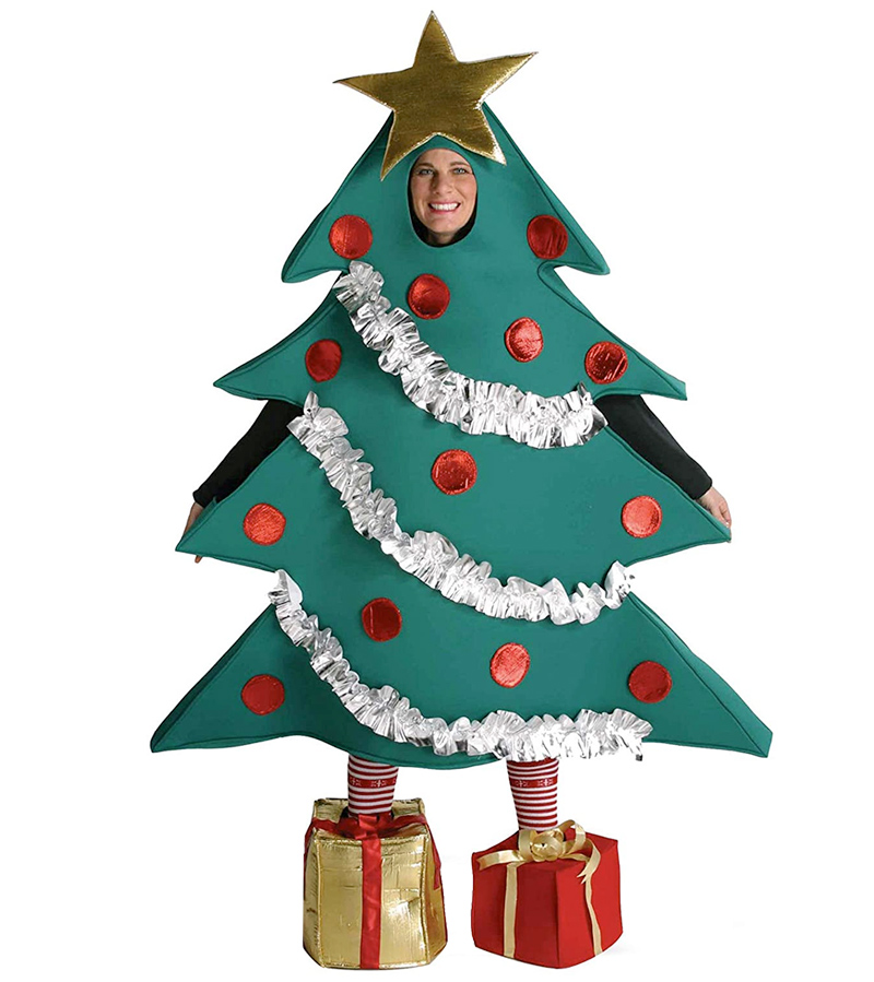 Fantasia Arvore de Natal Christmas Tree Costume With Shoe Boxes