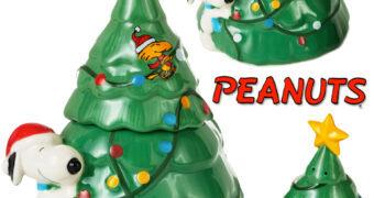 Snoopy Enfeitando a Árvore de Natal – Set de Saleiro e Pimenteiro da Hallmark
