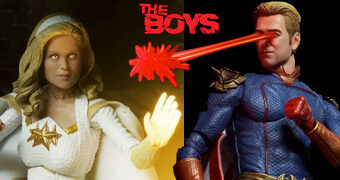 "Action Figures 7"" da Série The Boys: Homelander e Starlight (Neca Teaser)"