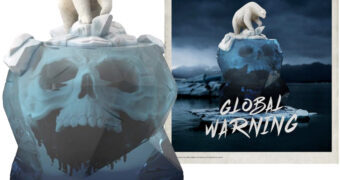 Estátua ToyArt Urso Polar no Aquecimento Global por Kerby Rosanes