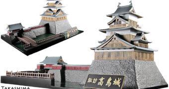 Kit de Montar Castelo Flutuante Takashima de Suwa no Japão