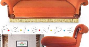 Sofá do Café Central Perk 1:1 para 3 Pessoas (Friends)