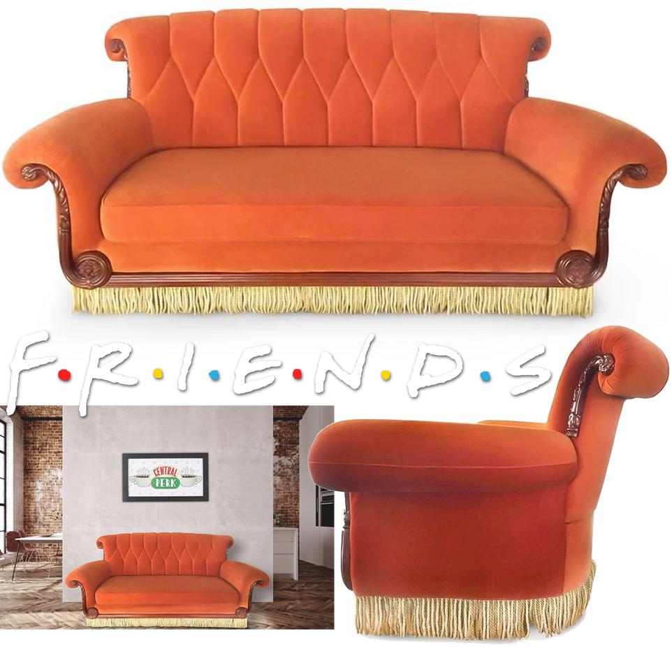Sofa Friends do Café Central Perk em Tamanho Real