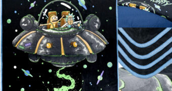 Cobertor de Lance Rick and Morty na Nave Space Cruiser
