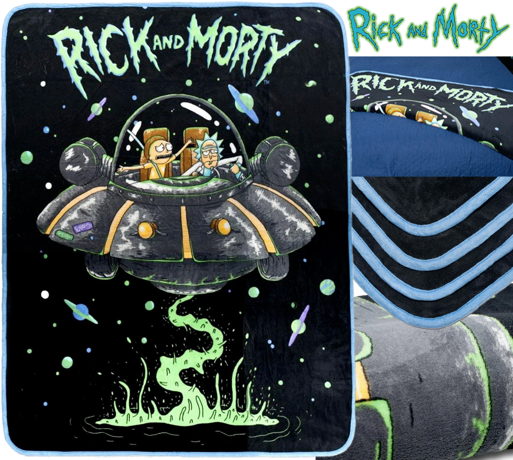 Cobertor de Lance Rick and Morty Fresh Start Fleece Throw Blanket