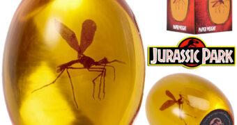 Peça de Âmbar com Mosquito Pré-Histórico de Jurassic Park: O Parque dos Dinossauros