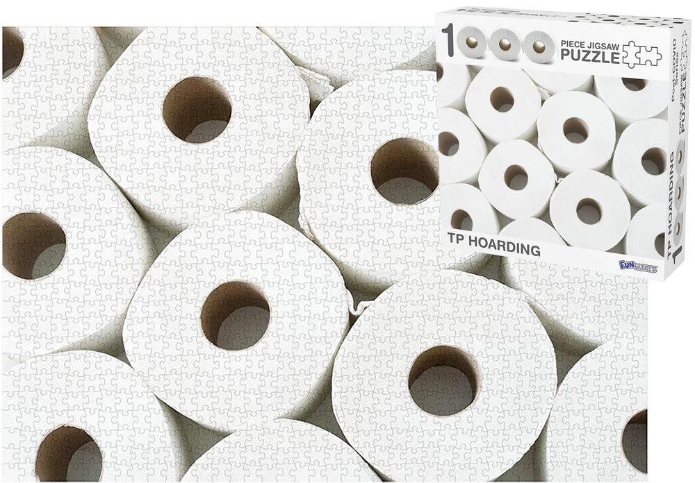 quebra-cabeça de papel higienico