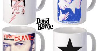 Canecas David Bowie 72 Anos: Aladdin Sane, Heroes, Black Tie White Noise e Blackstar