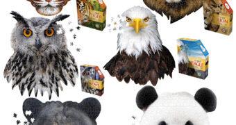 Quebra-Cabeças Animais com Cabeças de Mamíferos e Aves