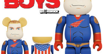 Bonecos The Boys Be@rbricks: Homelander com 28cm ou 70cm de Altura