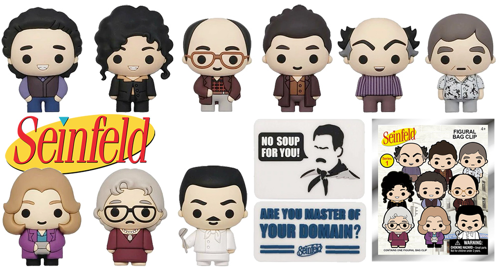 Seinfeld Series 1 Blind Bagged 3D Foam Figural Bag Clip